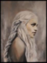 khaleesi,gameofthrones,emilia,clarke,dragon,queen,art,artist,original,tvshow,series,sexy,blonde