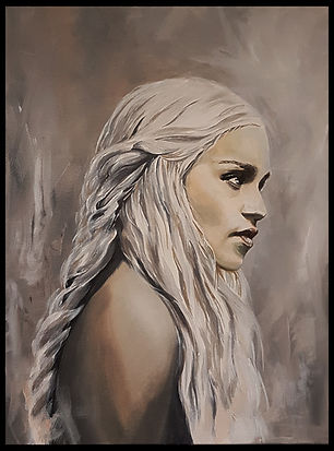 khaleesi,gameofthrones,emilia,clarke,dragon,queen,art,artist,original,tvshow,series,sexy,blonde