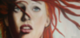 LeeLoo,Mila,Jovovich,Fifth,5th,Element,Oil,Painting,Art,Eyes