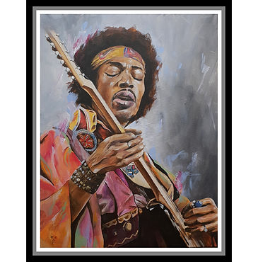 Jimi,Hendrix,art,original,portrait,painting,music,guitar,icon,legend,workofart,original