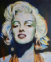 Marilyn,Monroe,Art,Original,Icon,Painting, Mark,Fox