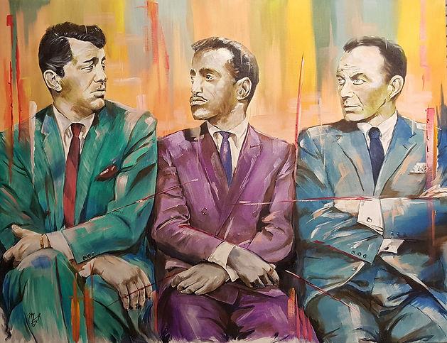 RatPack,Sinatra,DeanMartin,SammyDavis,Art,Painting,Original,Portrait