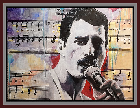 Freddie,mercury,queen,art,icon,music,artist,bohemianrhapsody,acrylic,original