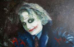 Art,Artist,Original,Artwork,Painting,Joker,Batman,Heath,Ledger,Mark,Fox