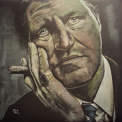 Art,Artist,Painting,Classic,Original.Comedy,Tommy,Cooper,Mark,Fox