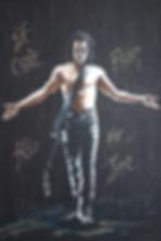 Art,artist,portrait,painting,original,print,acrylic,oils,movie,film,classic,icon,hero,thecrow,brandonlee,horror,supernatural,guitar