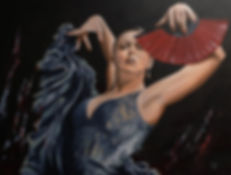 art,original,sexy,acrylic,painting,dance,spanish,flamenco,awesome