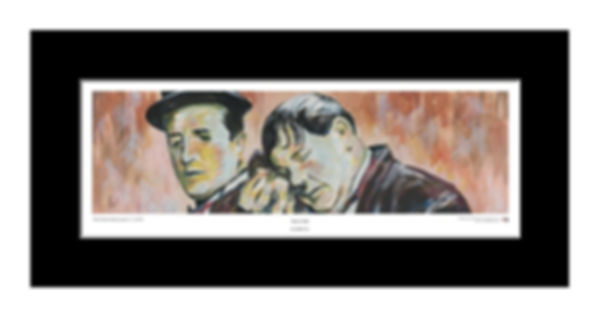 Laurel,Hardy,Stan,Ollie,Art,Original,Print,Mark,Fox