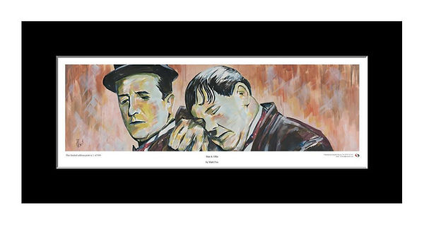Laurel,Hardy,Stan,Ollie,Art,Original,Print,Mark,Fox