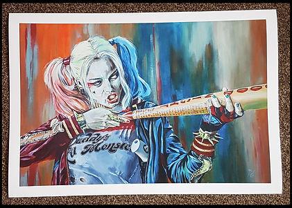 Harley,quinn,suicide,squad,joker,batman,dccomics,artprint,artist,sexy,baseball,pigtails,print