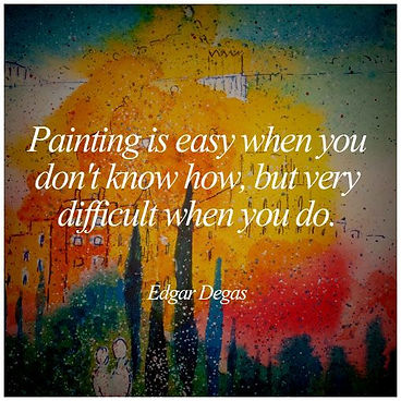 Painting is Easy, Edgar Degas