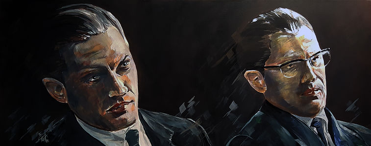 Tom,Hardy,Legend,Krays,Art,Portrait,Painting