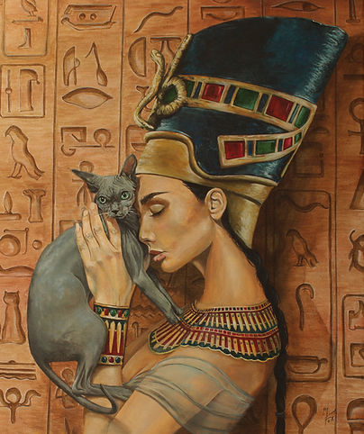 art,acryli,original,egypt,nefertiti,queen,awesom,markfox,painting
