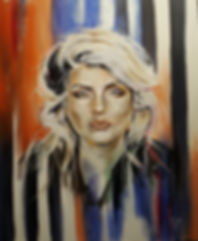 Blondie,Debbie,Harry,Art,Original,Painting,Portrait,Mark,Fox