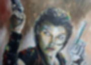 Art, Artist, Painting, Portrait, Alice, Residentevil, Jovovich, Portrait