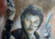 Art,artist,portrait,painting,original,print,acrylic,oils,movie,film,classic,icon,hero,alice,residentevil,video,game,