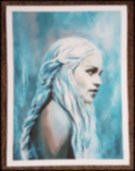 Khaleesi,daenerys,game of thrones,got,print,artwork,emiliaclarke,art