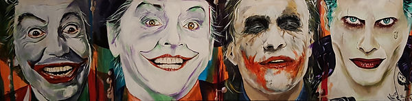 Art,artist,portrait,painting,original,print,acrylic,oils,movie,film,classic,icon,hero,joker,cesarromero,jacknicholson,heathledger