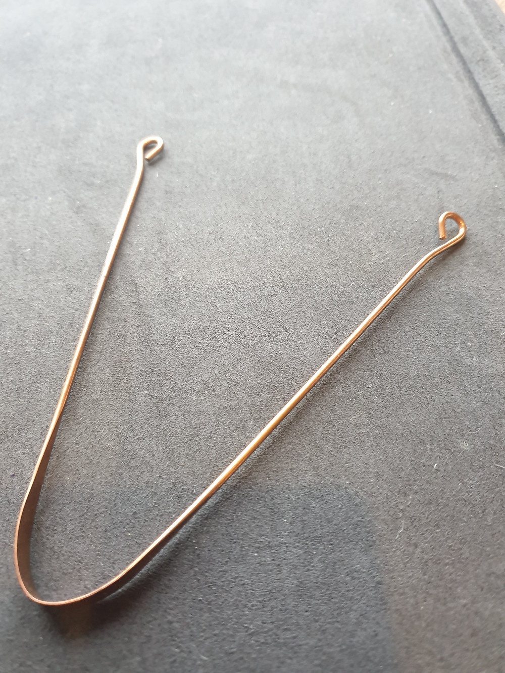 Copper Tongue Scraper from India