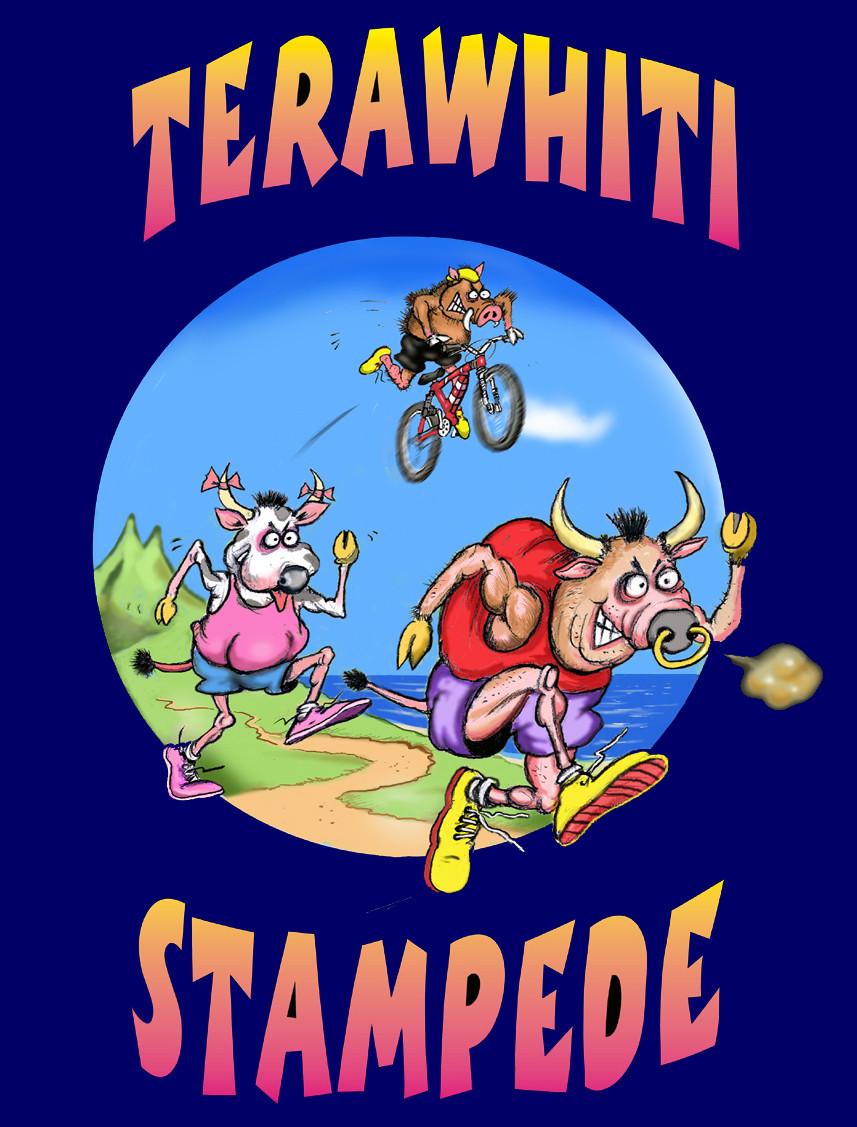 Stampede artwork by Colin Livingstone