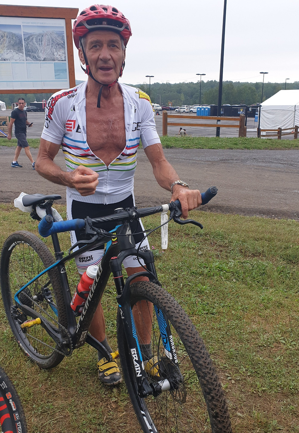 This is Christian Juilipat, who I have had the honour of meeting at three UCI Masters Mountain Bike World Championships.