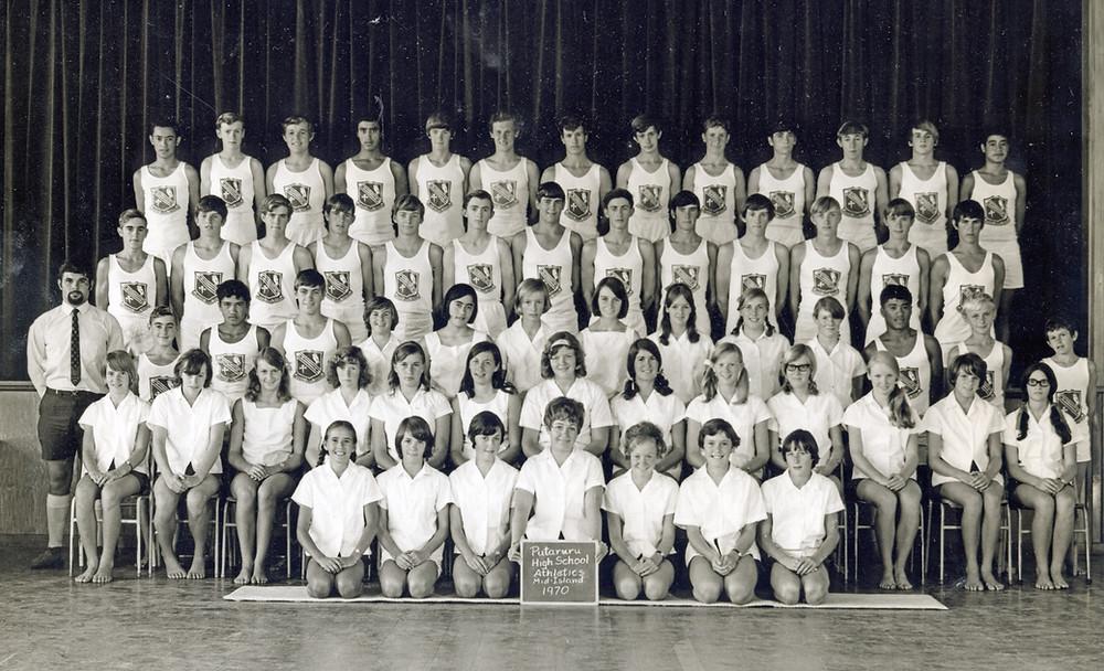 Putaruru High School Athletics Team 1970
