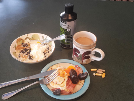 What does an athlete eat for breakfast?