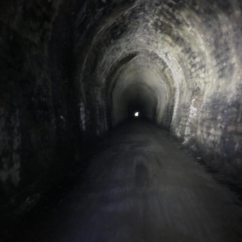 The tunnel through the mountain.