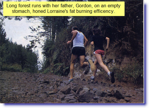 Lorraine Moller and Gordon Moller on a forestry run