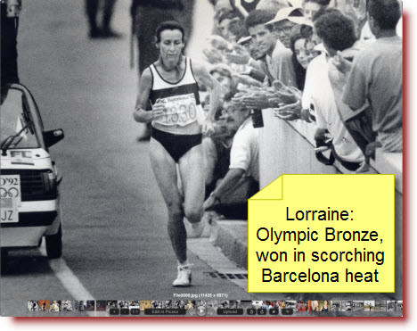 Lorraine: the last few kilometres were tough!