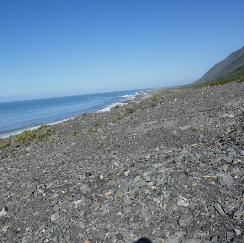 More gravel scree as far as the eye can see.