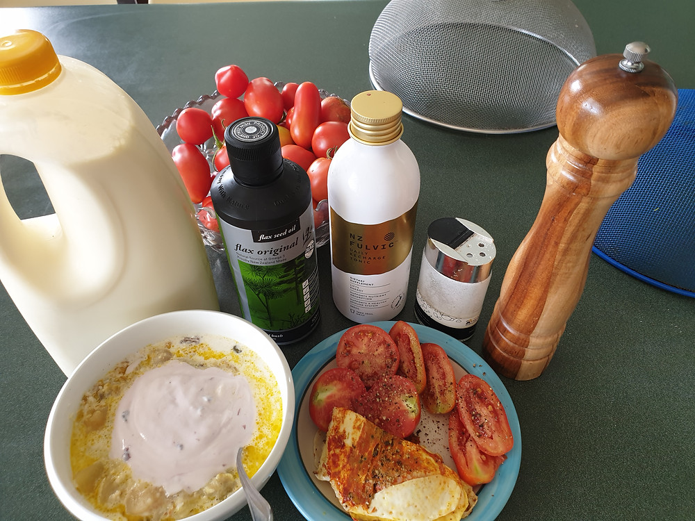 Gary's post-exercise breakfast and lunch combined