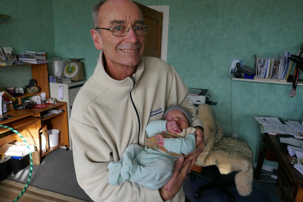 Gary holding Baby Gordon