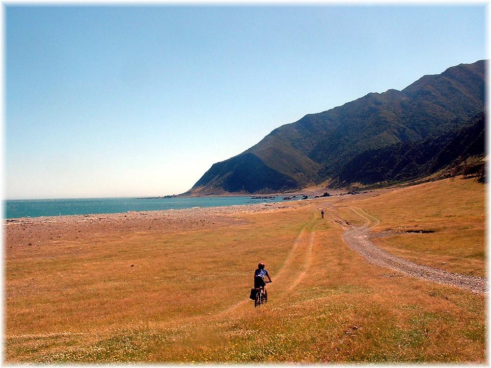 Alofa, Ioasa and Gary riding the Wairarapa Coastal Trail