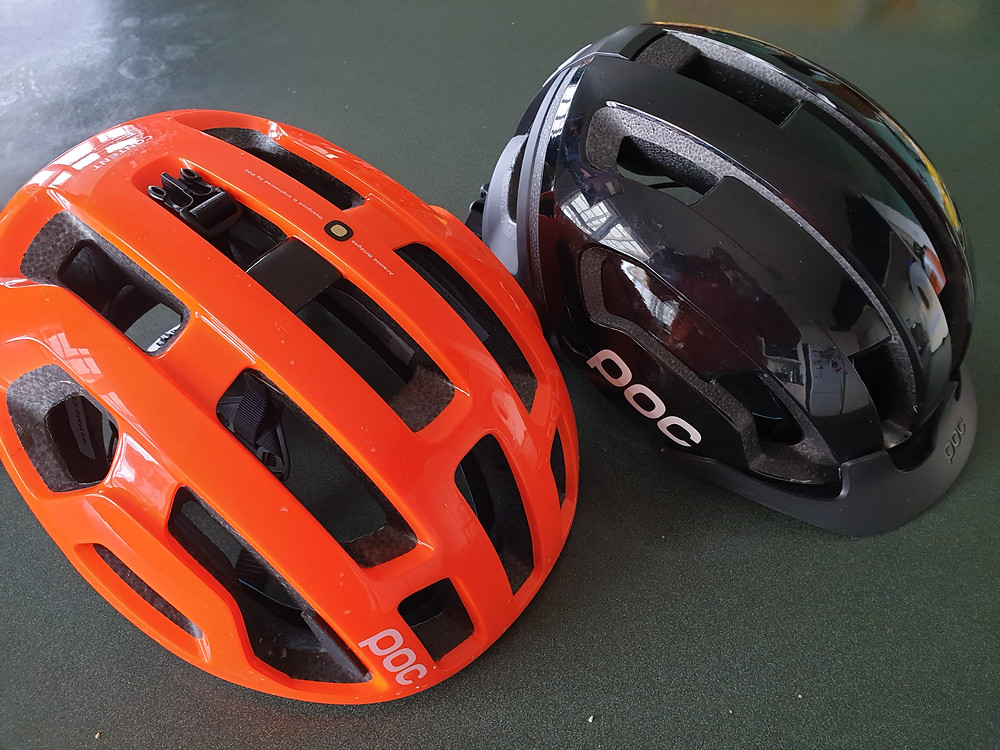 My two brand new POC helmets