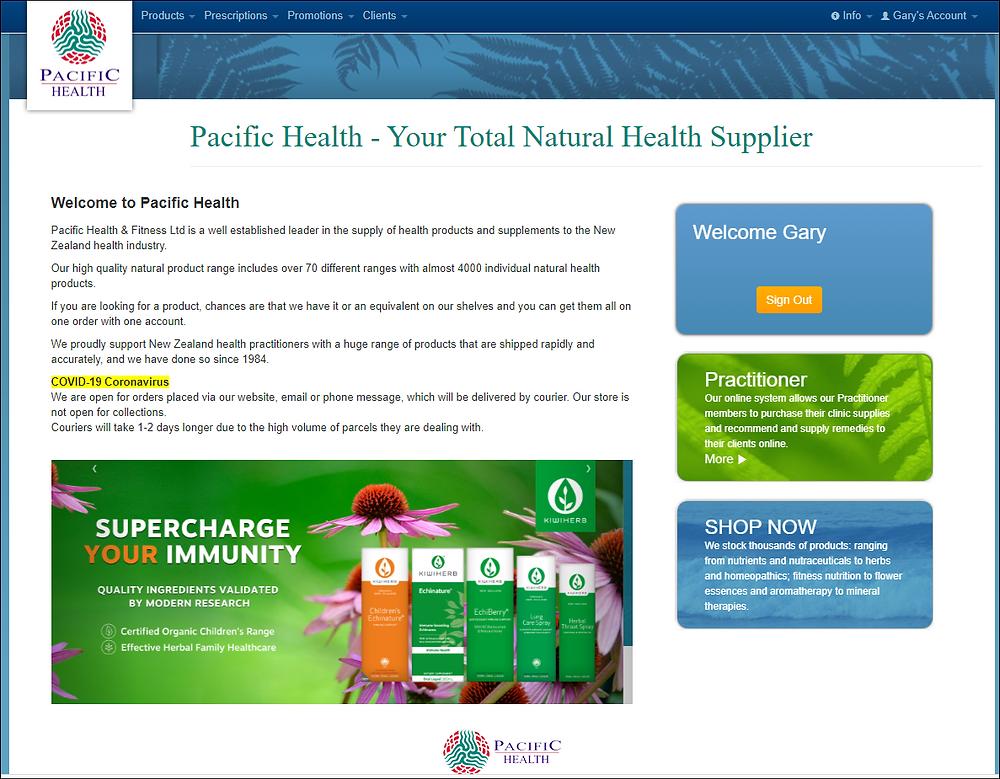 Pacific Health's Website