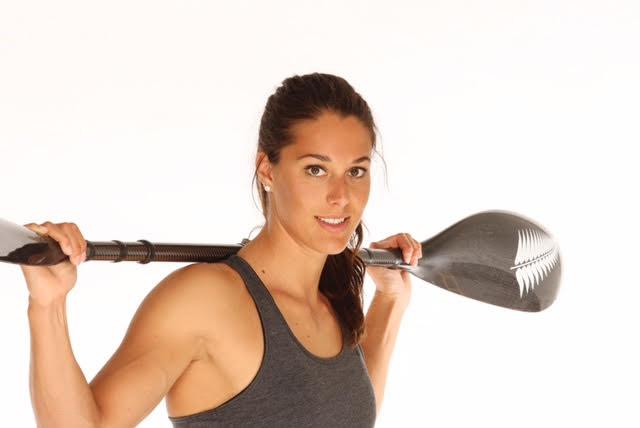 Kayla with paddle