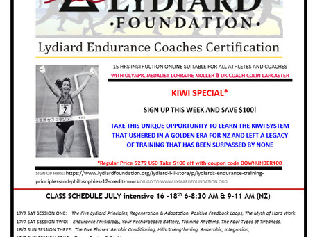 Lydiard Endurance Coaches Certification: Kiwi Special