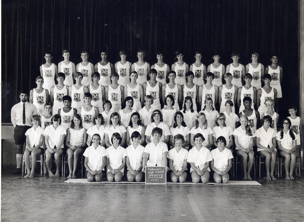 Putaruru High School Athletics Team 1970