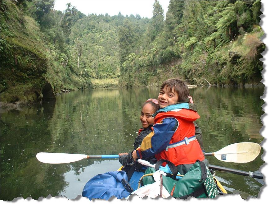 Alofa and Mathieson on the Whanganui River