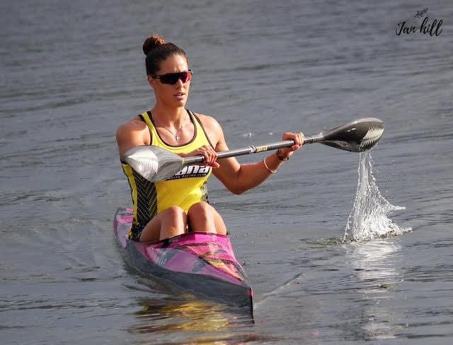 Kayla paddling K1
