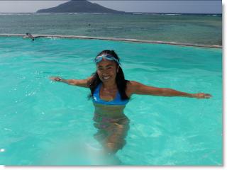 Swimming in Vanuatu