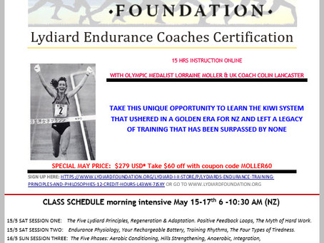 Lydiard I & II coaching certification this weekend