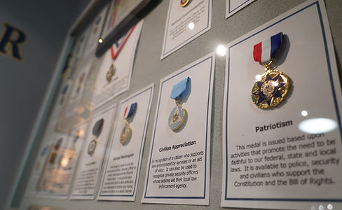 American Police Hall of Fame Officer Medals ad Awards