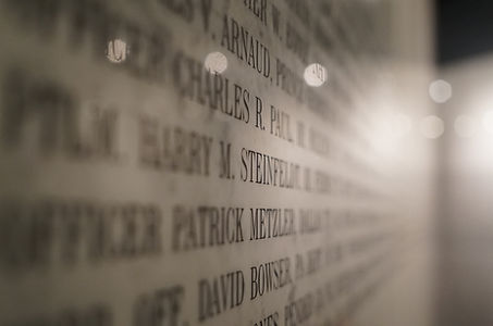 The walls of the American Police Hall of Fame Memorial in Titusville, FL