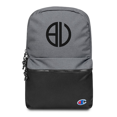 Be You Logo Black Embroidered Champion Backpack