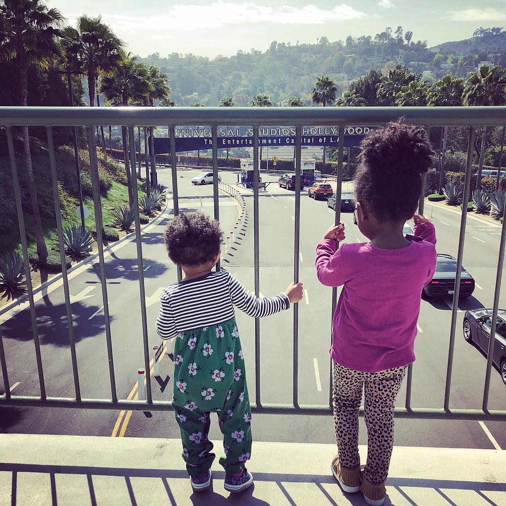 Ava & Parker at Universal Studios Hollywood