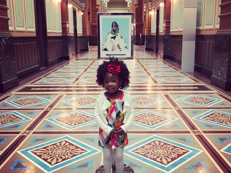 The Little Admirer Meets the Artist at The National Portrait Gallery