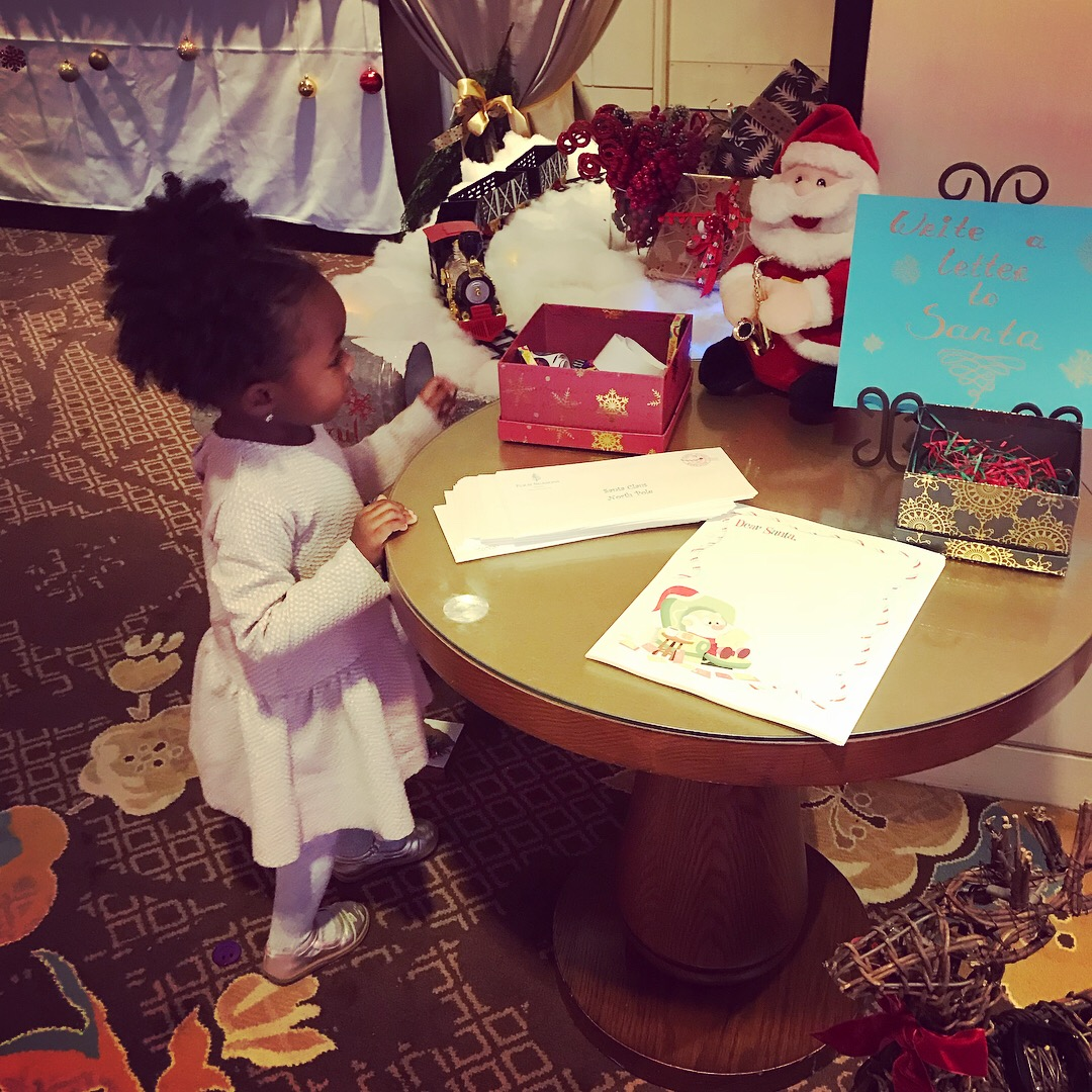 Writing a Letter to Santa at The Four Seasons