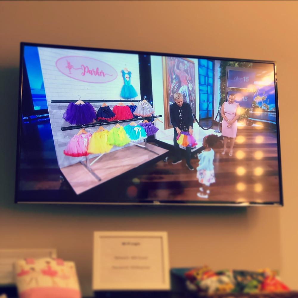 Tutus at the Ellen DeGeneres Show